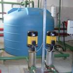 Бак и насосы промывной воды